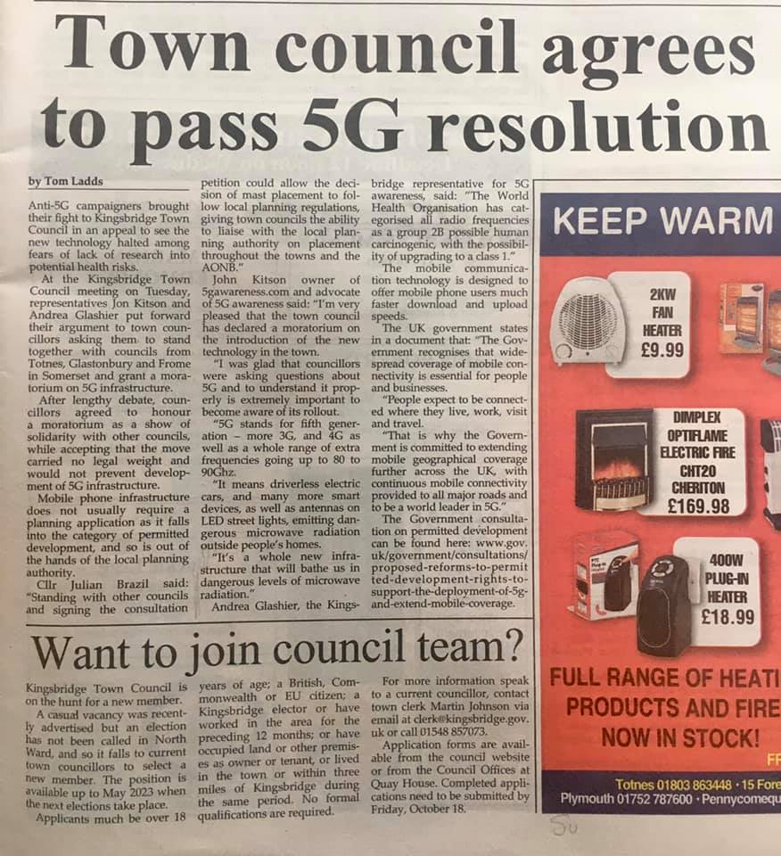 Town Council Agrees To Pass 5G Resolution, Smombie Gate   5G   EMF