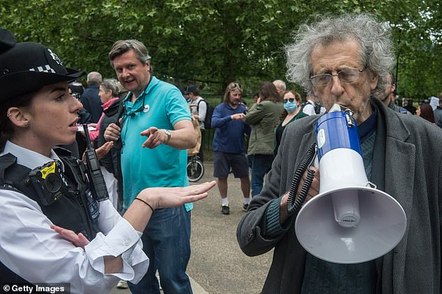 Jeremy Corbyn's brother Piers, 73, is charged with breaching coronavirus lockdown rules after attending 5G protest in Hyde Park, Smombie Gate | 5G | EMF